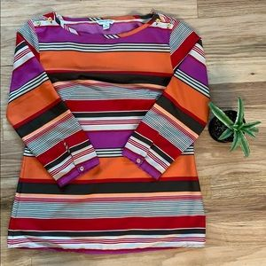 Banana Republic Small Boatneck Striped Blouse
